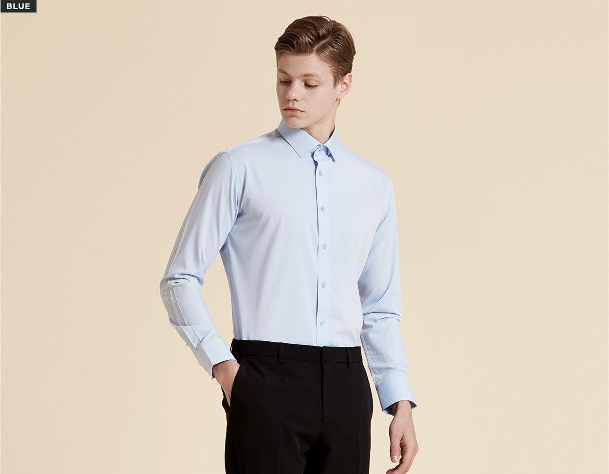 모달 스트레치 셔츠 블루