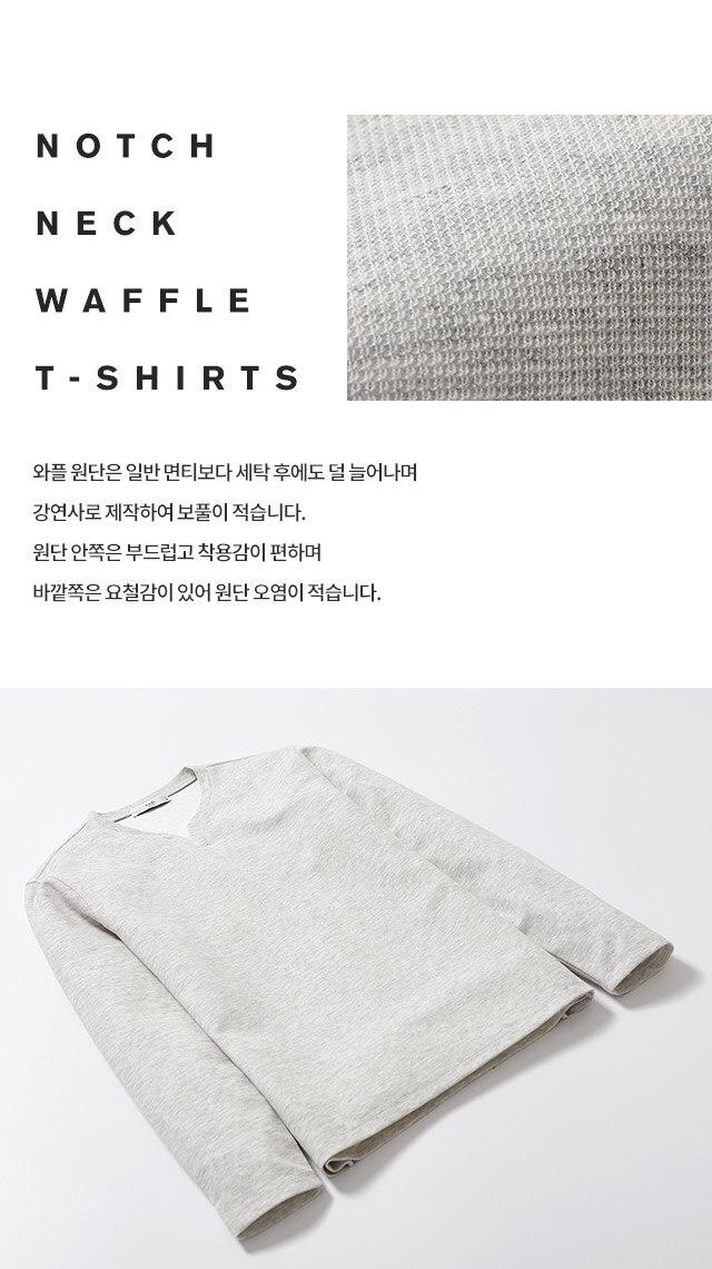 notch / neck / waffle / t-shirts